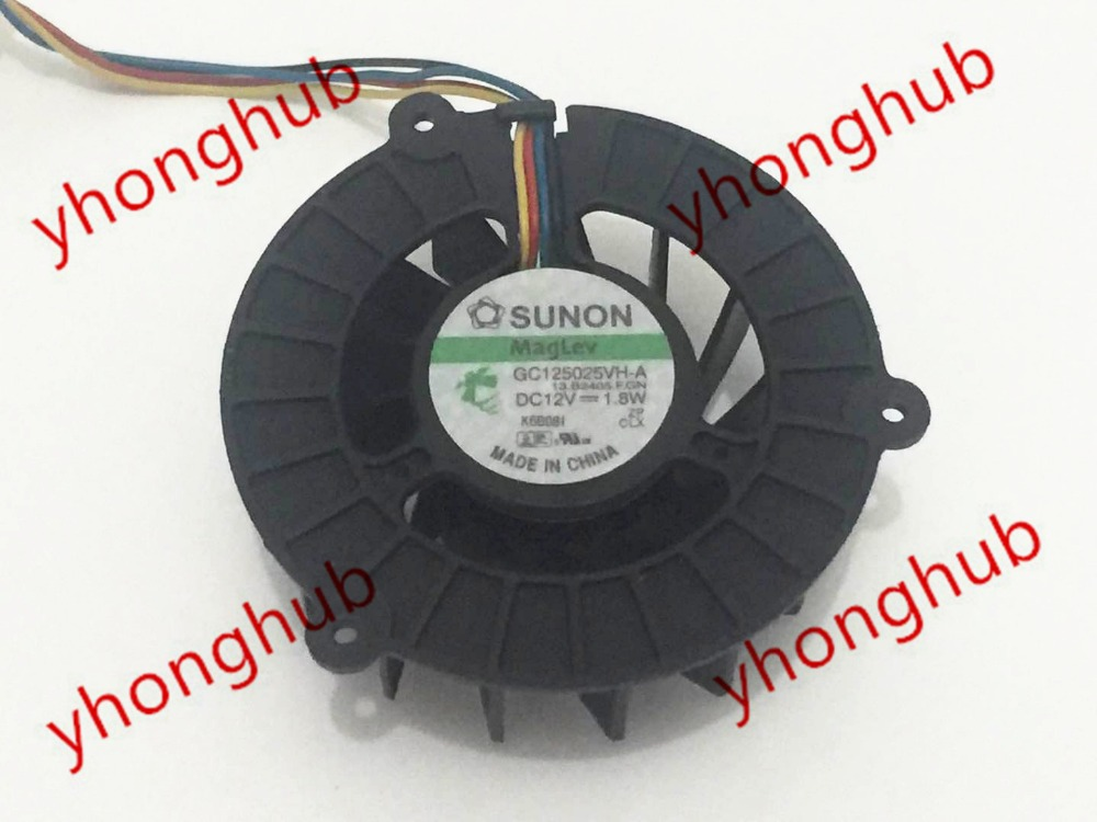 SUNON GC125025VH-A 13.B2405.F.GN DC 12V 1.8W 4-wire 55x55x25mm Server Round Fan 360ml