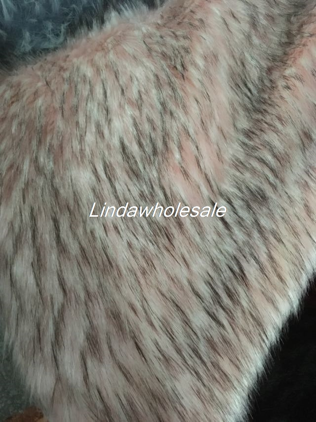 Tissu en peluche long imitation raton laveur de haute qualité, tissu en feutre, tissu en fausse fourrure, 160 cm * 45 cm (demi-cour)/PCS