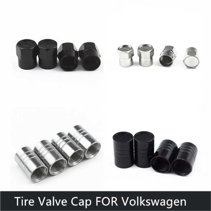 4 типа Автомобильные Колесные Шины Клапаны шины воздушные колпачки для Volkswagen VW Polo CC GOLF Tiguan Bora автомобильные аксессуары для мотоциклов автомобилей