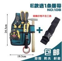 E-106 Oxford doek 7in1 Elektriciens Taille Pocket Tool Riem Pouch Tas Hamers & tangen & Schroevendraaier Carry Case Houder