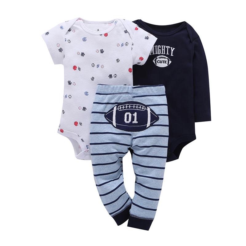 BABY OUTFIT Letter Print Long Sleeve Bodysuit+pants 2019 Summer Newborn Boys Girls Clothes Set New Born Suit Infant Clothing