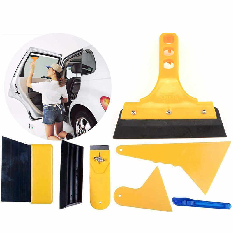 7pcs Tint Tool Car Window Film Tools Kit Windshield Knife Tool For Window Tint Scraper Squeegee Auto Film Tinting Installation