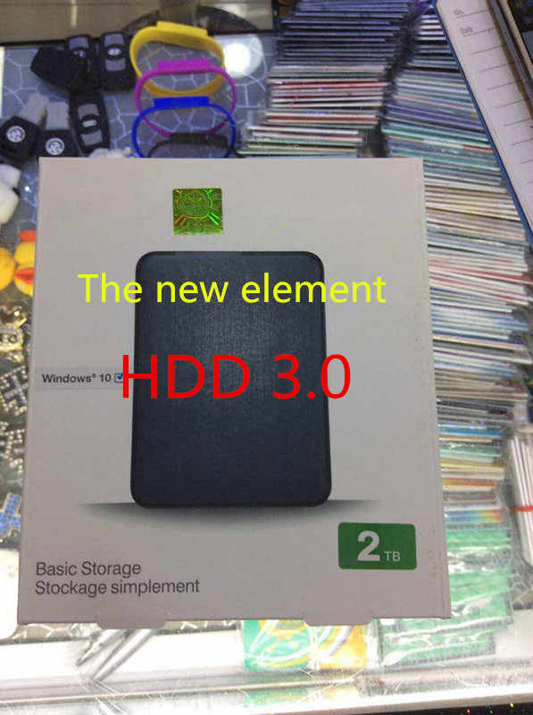 "البريد معفاة hddPortable laptopElements قرص صلب خارجي HDD قرص صلب المحمول USB 3.0 HDD 1 تيرا بايت 2 تيرا بايت sata 2.5 ""الداخلية"