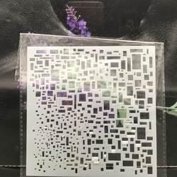 13 см квадратный Texture Block DIY наслоения Трафареты настенная живопись записки окраска тиснильный альбом декоративная открытка шаблон