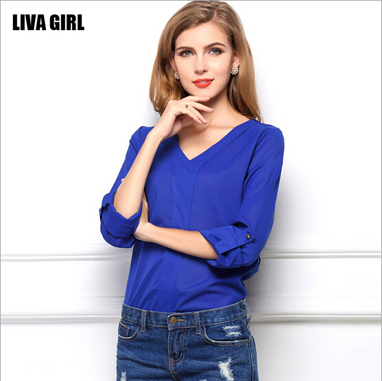 Compare Prices on Royal Blue Blouse for Women- Online Shopping/Buy ...