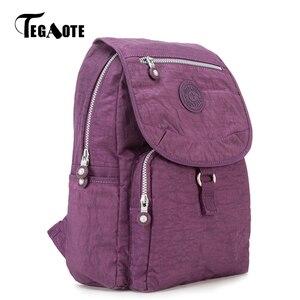 Image 2 - TEGAOTE mały plecak dla nastoletnich dziewcząt Mochila Feminina plecaki damskie kobiece solidne nylonowe plecak podróżny na co dzień Sac A Dos
