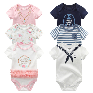 2020 3PCS/Lot Newborn Bodysuits Girls Clothing 0-12M Baby Girl Clothes 100%Cotton Unicorn Baby Boy Clothes Roupas de bebe(China)