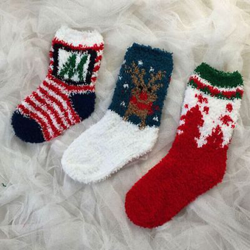 New Style in Winter 2017 Lot Winter Cute Christmas Toddler Kids Boys Girls Warm Ankle Fuzzy Short Socks 1-6 Y
