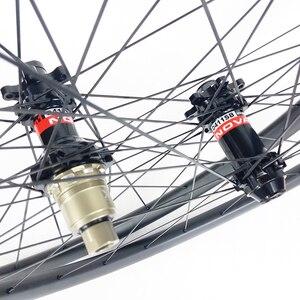 Image 3 - 1220g 29er MTB XC GRAVEL tubeless carbon wheels 30mm wide 25mm inner width 30mm deep center lock 6 bolt wheelset 15X100 12x142