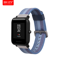 SIKAI Sports Watch Replacement Nylon Bracelet For Xiaomi Huami Aamazfit Smartwatch Band Strap For Xiaomi Aamazfit
