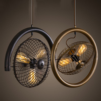Retro Classic Metal Hanging Light Industrial Loft 3 Heads Home Decoration Bar Cafe Hallway Balcony Fan