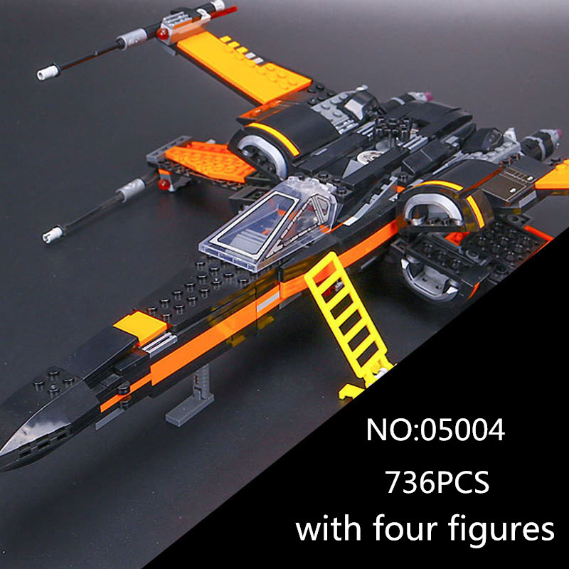 05004 Star First Wars Order Poes X Toys wing Fighter 05060 Assembled Building Block Bricks 10026 75102 Educational Gifts