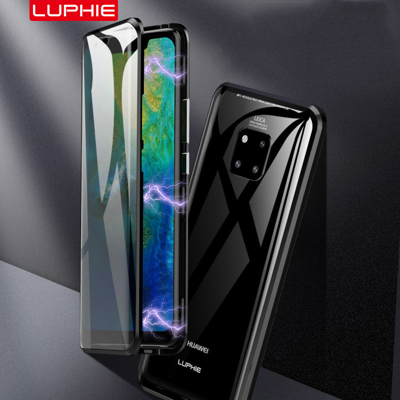 Luxury 360 Case Full Cover for Huawei Mate 20 P20 Pro Cover Front Back Glass Magnetic Case For Huawei Mate 20 Pro protector CaseLuxury 360 Case Full Cover for Huawei Mate 20 P20 Pro Cover Front Back Glass Magnetic Case For Huawei Mate 20 Pro protector Case