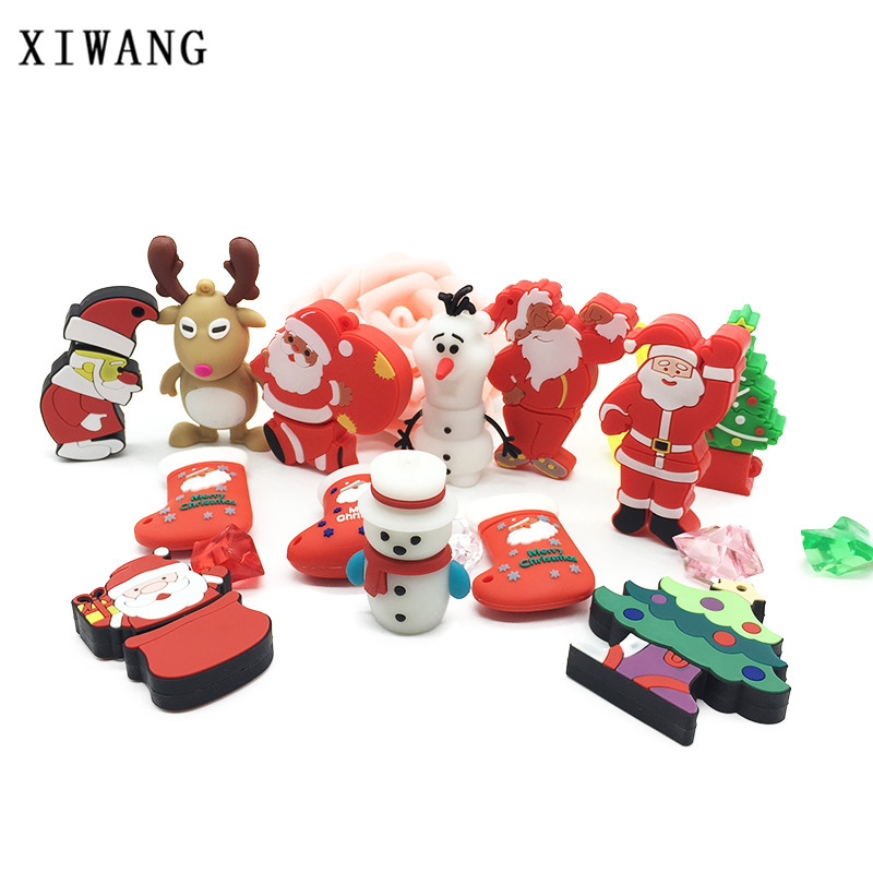 XIWANG Christmas snowman elk USB flash drive usb2 0 4GB 8GB 16GB 32GB 64GB Christmas series
