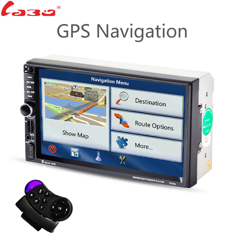 LaBo 2DIN New universal Car Radio Double Car MP5 Player GPS Navigation In dash Car PC Stereo video Free Map Car Electronics