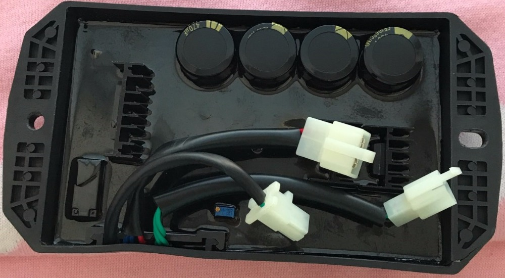 Free shipping 8 wires Single Phase gasoline generator 10kW spare parts suit for any generator Automatic Voltage Regulator free shipping 3 phase three phase gasoline generator 10kw spare parts suit for any generator automatic voltage regulator 10 wire