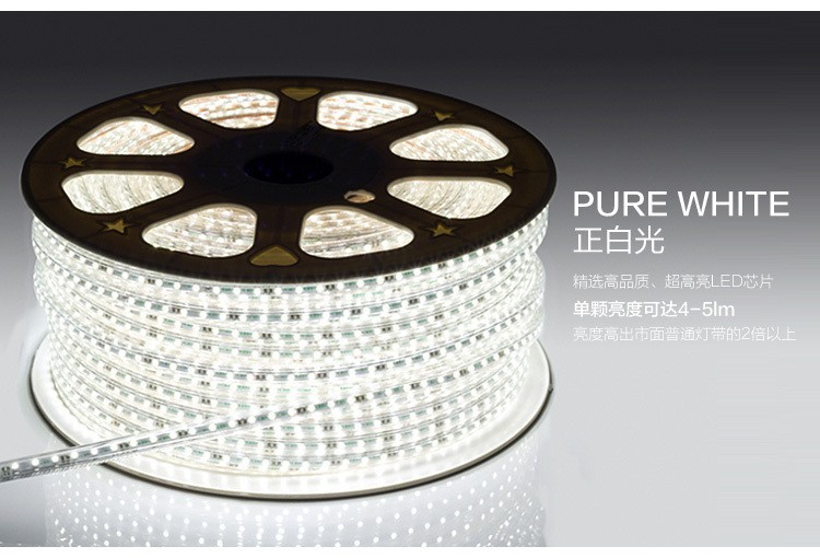 120leds/m  SMD 3014 led strip 220V luces tiras led 220v waterproof led light Power plug 1m 2m  5m 10m 15m 20m 50m 100m length