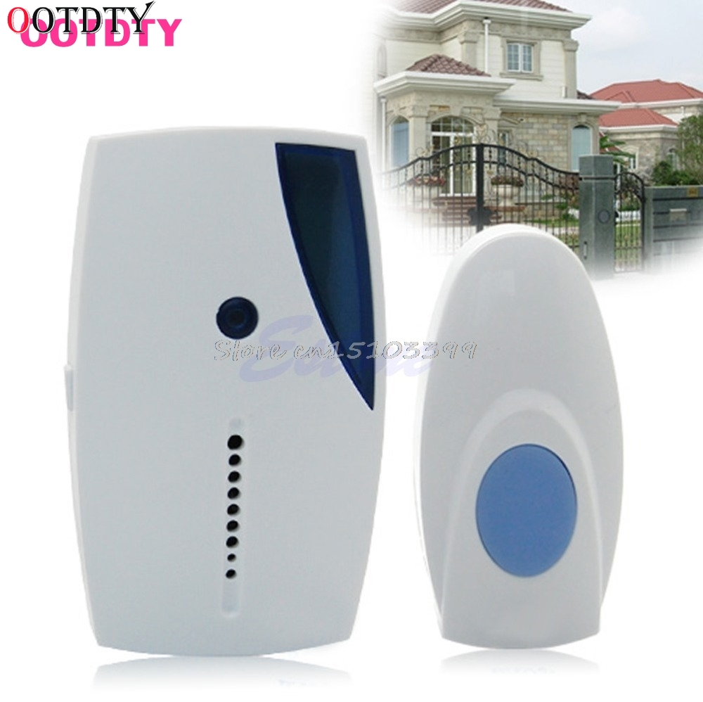 OOTDTY Wireless Doorbell Control Receiver Door Bell Remote Button 36 Music Chimes Songs Drop Ship 7 color light flashing 16 songs 3 modes music wireless doorbell for deaf old men