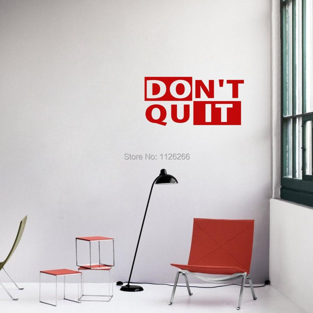Wall Stickers Sticker Don/'t Quit Just Do It Motivation Quote Inspirational Decor