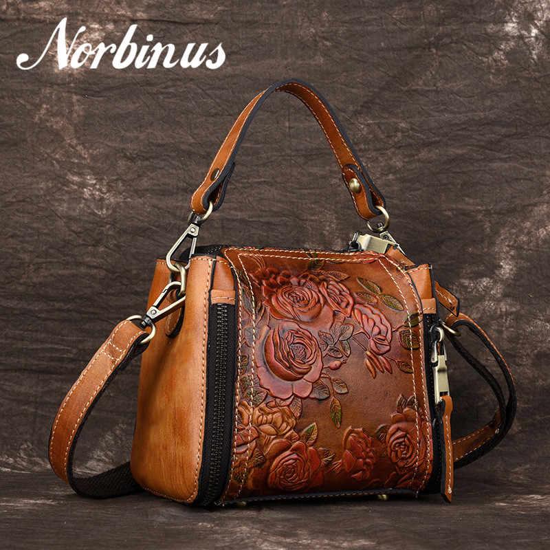 6d30d0d044aa Norbinus 2018 женская сумка из натуральной кожи роскошная дизайнерская сумка  через плечо для женщин маленькая сумка