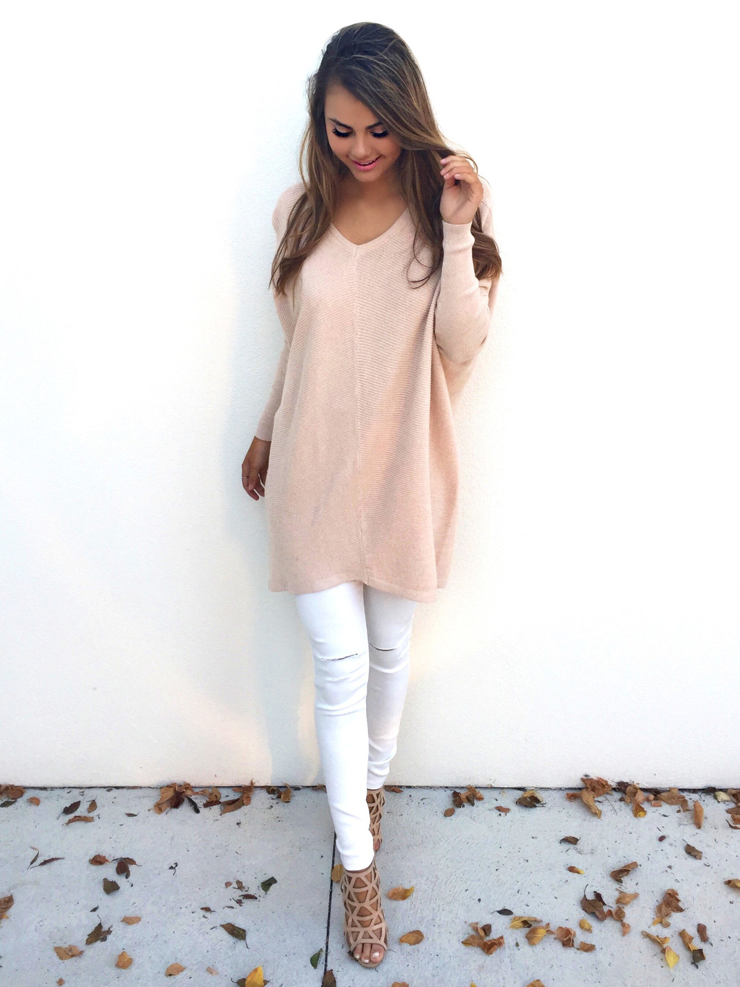 NANABUBU Hot Sale Soft Bat-like Pullovers Female Sweater Pure Casual V-neck Short Design Basic Knitted Pullovers Plus Size S-3XL