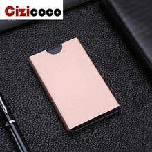 Aluminium Alloy Card Holder Anti Rfid Blocking Bank  Protection ID Case Metal Credit