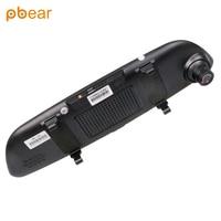 Pbear 7 Inch Car Rearview Mirror Gps Navigator Dual Lens Touch Screen Voice Control Intelligent App