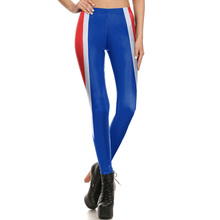 1687 Fitness Elastic Women Leggings Sexy Girl Polyester Slim Fit Workout Pants Trousers Cartoon Blue Stripes Ultraman Printed