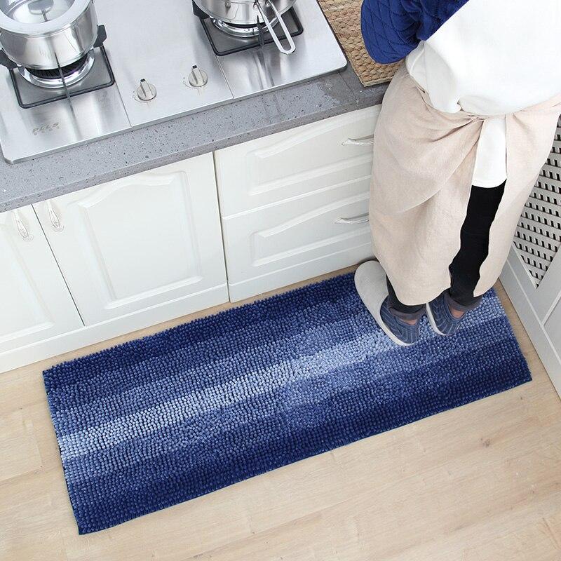 Franges graduées Chenille longue salle de bain tapis microfibre aspiration séchage rapide cuisine tapis de sol 45x120 CM
