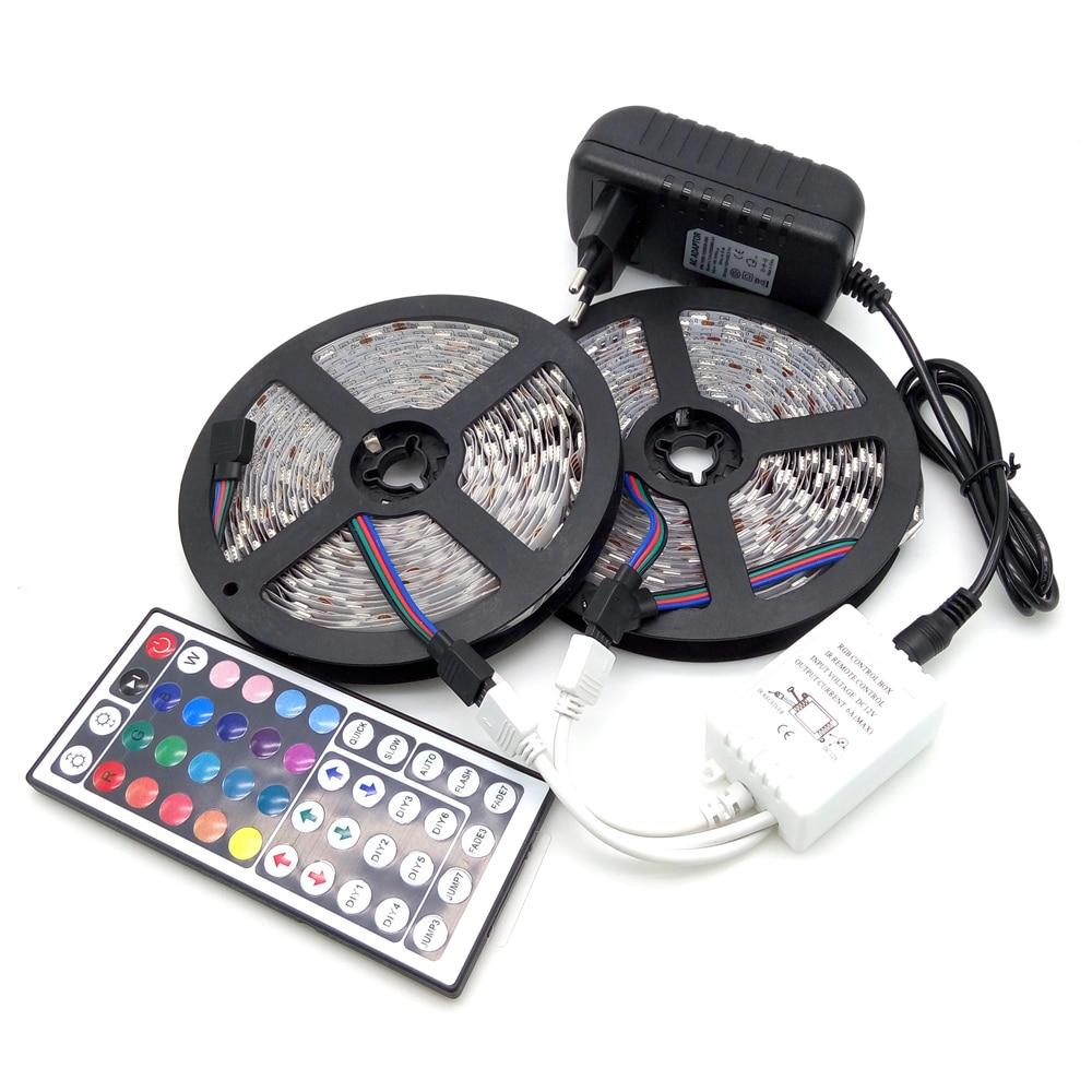 10M LED Strip Light 5050 RGB 600LED Çevik Zolaqlı İşıq Dəsti + - LED işıqlandırma - Fotoqrafiya 1
