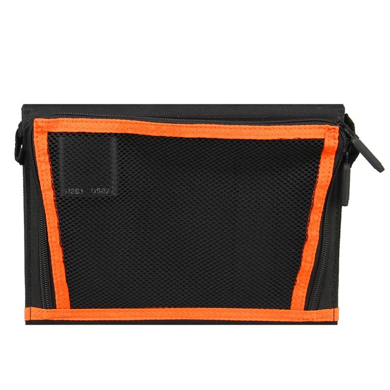 Solar panel with storage bag