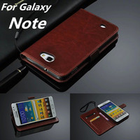 I9220 Card Holder Cover Case For Samsung Galaxy Note I9220 Leather Phone Case Ultra Thin Wallet