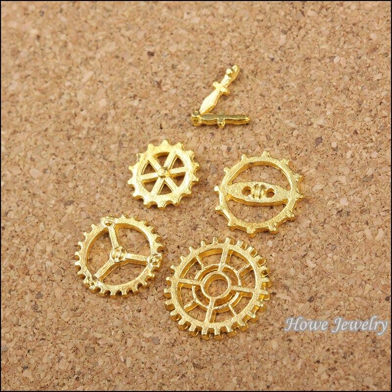 6cea931dc517 225 unids vendimia Amuletos mezclado engranan fit collar de las pulseras  DIY metal la joyería making600019