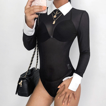 Rapwriter Collar Bodysuits for  Women