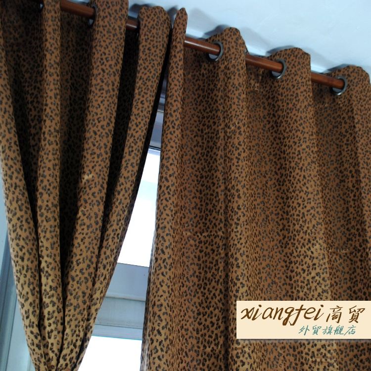 Leopard Blackout Curtain Double Layer Curtains For Living Room 0 9kg