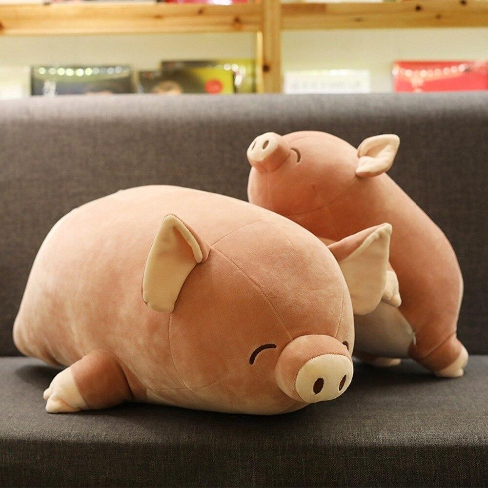 40/60 Cm doux rose cochon en peluche jouet doux en peluche mignon Animal cochon belles poupées pour enfants apaiser jouet décoration de la chambre de bébé