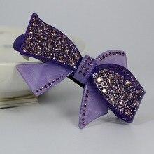 9 cm tocado y hairwear crystal Rhinestone caliente de la pinza de pelo horquilla garra del pelo abrazadera accesorios de gama alta regalos femeninos
