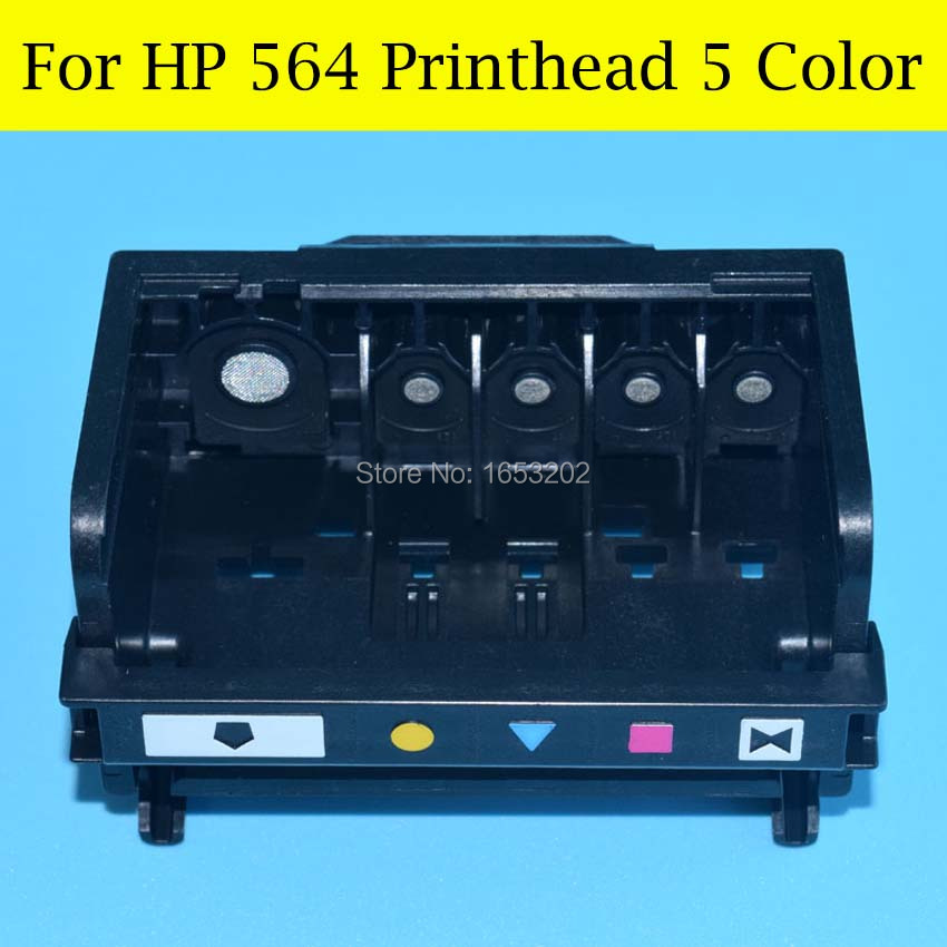 1 PC 5 Color HP564 Print Head For Photosmart B6550 C5380 C6375 C6340 C6350 C6380 D5460 C510A D5445 564 Printer Head