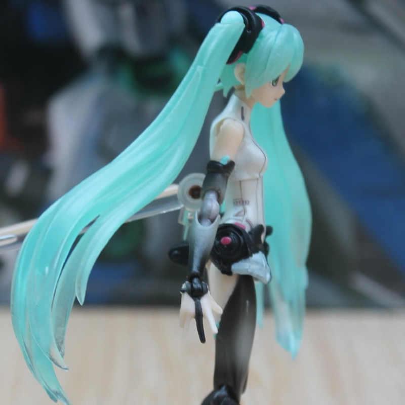 """14 CM Hatsune Miku Vocaloid Anime juguetes bonecas Figma 100 Figura de Ação DO PVC Quente modelo kids brinquedos 6 """"boneca caixa de presente original"""