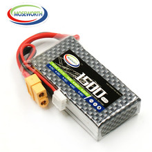цена MOS RC lipo battery 3s 11.1v 1500mah 25c for rc helicopter rc car rc boat quadcopter Li-Polymer battery 3s в интернет-магазинах