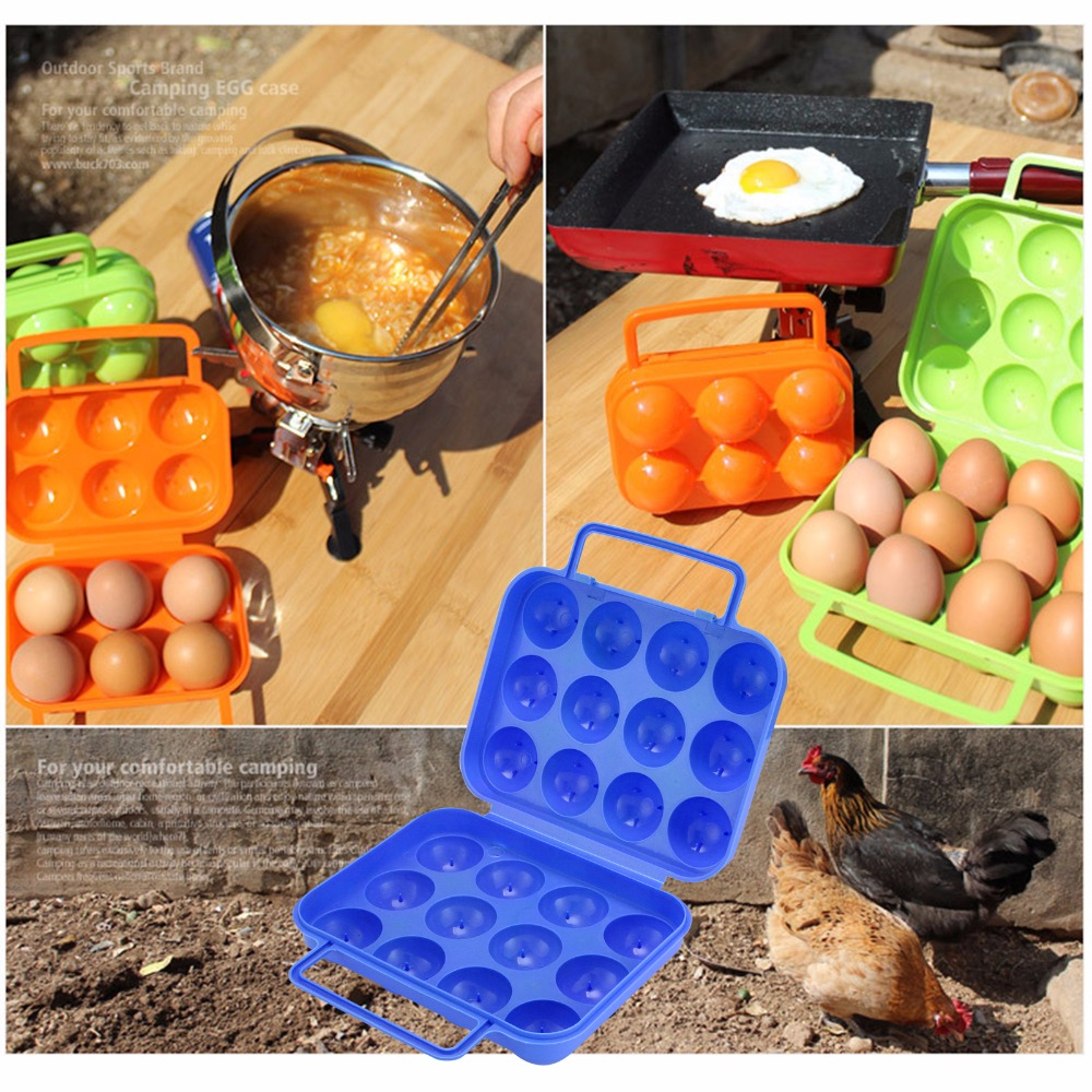 111 Grid Plastic Egg Holders Outdoor Hiking Camping Panic Portable Hand-Held Egg Storage Box Eggs Container Holder Storage Case