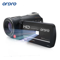 Ordro HDV D395 Digital Video Camera Infrared Night Vision Camcorder Wifi HD 1080P 30fps with Remote Control Dual LED Lights