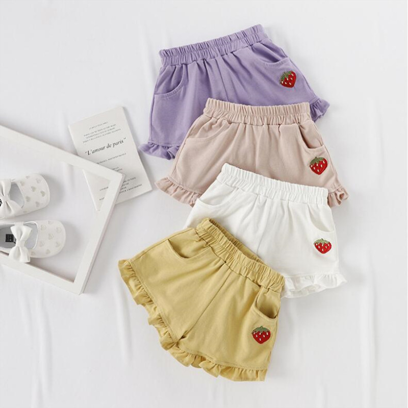 AJLONGER Verão Do Bebê Meninas Calções Crianças Calças Curtas para Meninas Shorts Meninas Roupas Casuais