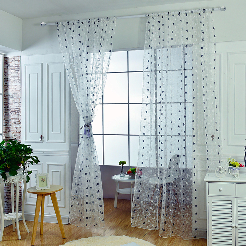Summer Plum Flower Curtains For Living Room Window Curtain Tulle Sheer CurtainsChina