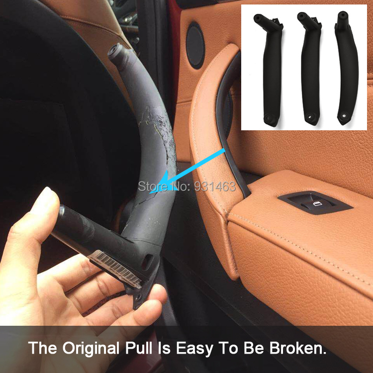 цена на Inner Door Panel Handle Pull Black Left/Right Car Interior Door Handles trim Cover For BM W X5 X6 2007-2013 E70 E71