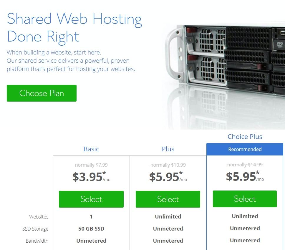 羊毛党之家 虚拟主机还行-bluehost:低至$2.95/月,全球最流行的虚拟主机品牌