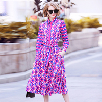 Women Shirt New 2018 Summer Blouse Skirt Suit Two Pieces Runway High Quality Female 2 Pcs