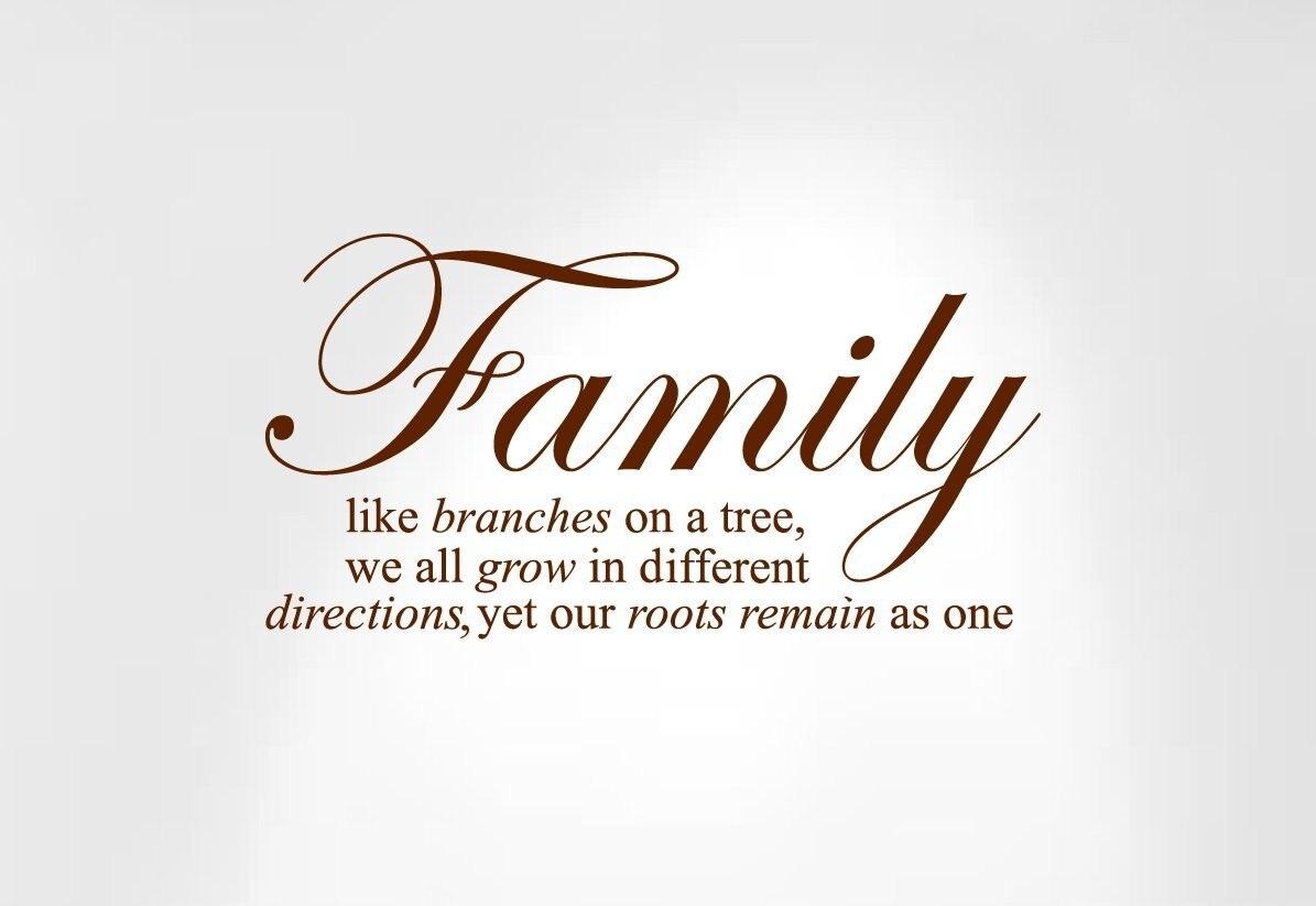 ᗚInnovador plantillas familia como ramas en un árbol... Decal Wall ...