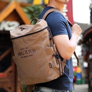 Image 2 - Muzee sac à dos en toile pour hommes, sacoche pour livres pour étudiants, grande capacité, sac à dos de voyage à la mode, Mochila mâle, nouvelle collection