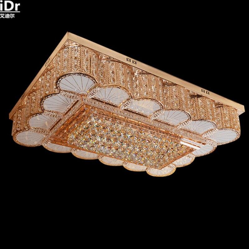 Kreative Moderne Rechteckigen Wohnzimmer Lampe Kristall Schlafzimmer Esszimmer Mit Led Beleuchtung Deckenleuchten Lmy